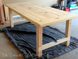 dining table woodworkers: diy farmhouse dining table from thedomesticheartcom