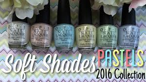 <b>OPI Soft Shades Pastels</b> 2016 Collection | Nail Polish Pursuit ...