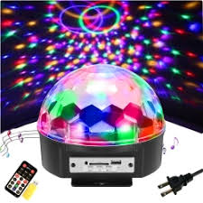SOLMORE 9 Color LED <b>Disco Ball Party Lights</b> Strobe Light 18W ...
