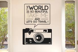 The World Beautiful Take Me Travel Wall Stickers uk art decals ... via Relatably.com