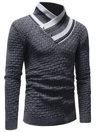Men's Casual Slim Turtleneck Sweater <b>Fashion</b> Lingge Trendy Knit ...
