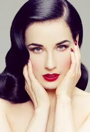 dita von teese for a 50 39 s style look focus on sharp