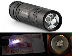 Bazaar <b>Convoy S2+ Nichia</b> 365nm UV LED 1Mode OP Reflector ...