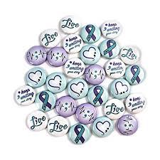 Semicolon/Suicide Awareness Mini Buttons (1 ... - Amazon.com