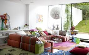 creative family room decorating ideas with white balls pendant living lighting over colorful sectional l shapes awesome family room lighting ideas
