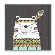 Stupell Home Décor Tribal <b>Boho Fox</b> Wall Plaque Art 12 x 0.5 x 12 ...