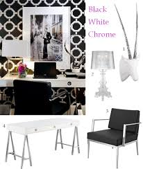 glam black and white office black and white office decor