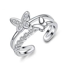 Qinlee <b>Women</b> Ring Elegant <b>Fashion Bowknot</b> Crystal Ring ...