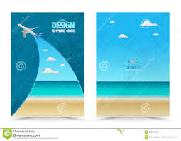 cover page layout template airplane stock vector image cover page layout template airplane