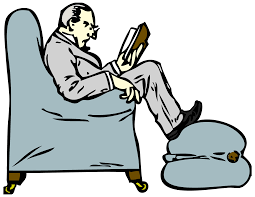 Image result for photos man reading chair