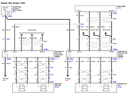 need a diagram of a shaker 500 audio system color codes for