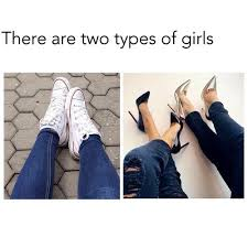 18 Hilarious Examples Of The Two Types Of Girls Meme | Gurl.com via Relatably.com