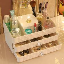 Fashion <b>cosmetics</b> storage <b>box</b> 2 drawer <b>dressing dresser desktop</b> ...