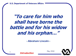 Image result for department of veteran affairs to care for him who shall have borne