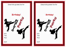 karate birthday invitations birthday printable karate birthday invitations