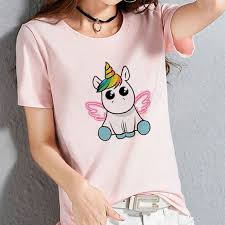 <b>2019 Pink</b> Kawaii Cartoon <b>Unicorn</b> Print T Shirt Women <b>2019</b> ...