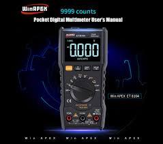 WinAPEX ET8104 Digital Multimeter High Precision 9999 Display