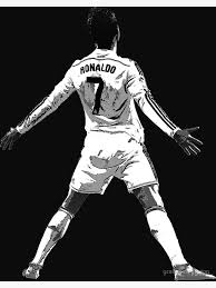Art <b>Real Madrid</b> Football Star Collage Poster Art Print <b>Black & White</b> ...