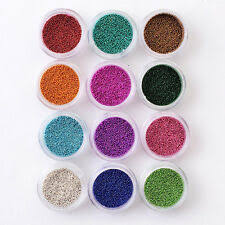 3d metal micro nail caviar beads silver gold small glass for jewelry making diy art decorations seedbeads 0 6 0 8mm bijoux