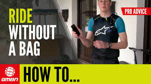 How To Go <b>Mountain Biking</b> Without A <b>Bag</b> - YouTube