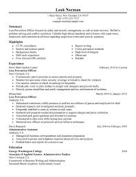 best loss prevention officer resume example livecareer choose
