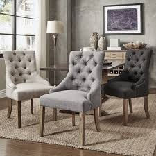 dining fabric chairs signal hills benchwright button tufts wingback hostess chairs set of
