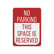 AMERICAN WIT Quality Metal Signs, No Parking This ... - Amazon.com