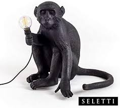 Seletti <b>Monkey Lamp Black</b> - Sitting <b>Black</b> - - Amazon.com