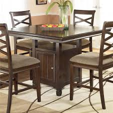 bar height square dining table room