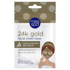 Miss Spa <b>24k Gold Facial Sheet</b> Mask Pamper & Relax | Meijer ...
