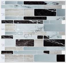 stick wall tiles quotxquot: crystilesar peel and stick self adhesive vinyl wall tiles multi color marble