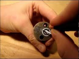 How to pick a tubular lock with out a special pick . - YouTube
