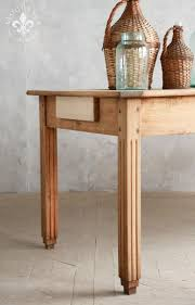 tables madison table x: gorgeous antique farm table in old stripped maple unusual rectangular fluted legs and gently scalloped