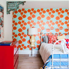 Orange Bedroom Wallpaper Bedroom Colour Schemes Ideal Home
