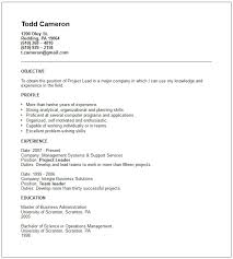 management resume examplesproject leader resume example