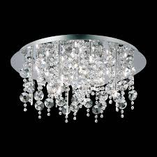 "Galassia 26 3/4"" Wide Chrome and <b>Crystal Ceiling Light</b> - #W5082 ..."