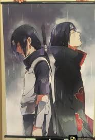 Anime Poster <b>NARUTO</b> Uchiha <b>Itachi Wall</b> Scroll Printed Painting ...
