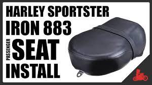 HOW TO: Install <b>Passenger Seat</b> (<b>Pillion</b>) - Harley Sportster Iron 883 ...