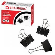 <b>Brauberg Зажимы для</b> бумаг на 200 листов 12 шт. - Акушерство.Ru