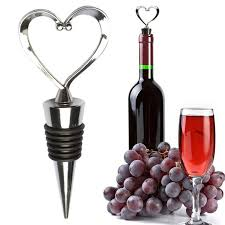 Hoomall Heart Wine Stopper Cork Stainless Steel Red Wine Opener ...
