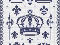 корона: лучшие изображения (8) | Вышивка крестиком бесплатно ...