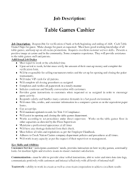cashier job description resume table games cashier job duties of a cashier job description resume table games cashier job duties of a cashier