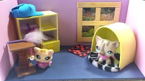 girl bedroom dollhouse diy how to make a cute bedroom for an lps cat doll house diy