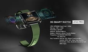 LEMFO LEM4 PRO Android <b>Smart Watch</b> Phone <b>1GB 16GB</b> 1200 ...