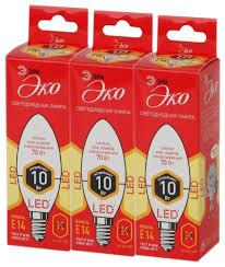 Купить Упаковка <b>светодиодных</b> ламп 3 шт ЭРА E14, B35, 10Вт по ...