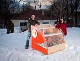 Reel Cold Comfort  Creative Ice Fishing Hut Designs   Urbanist images via  AntaresOnline