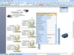 integrating visio and excel a network diagram   associated shape data