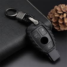 <b>Carbon fiber Pattern</b> Soft <b>Silicone</b> Key Case Cover for Mercedes for ...