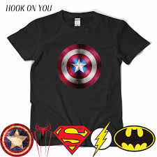 Comic LOGO <b>Super Hero</b> T <b>Shirt Superman Batman</b> Captain ...