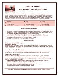 personal trainer resume example   samplepersonal trainer resume example